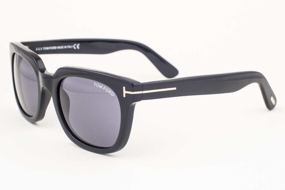 Tom Ford Campbell Shiny Black / Gray Sunglasses TF198 01A | eBay