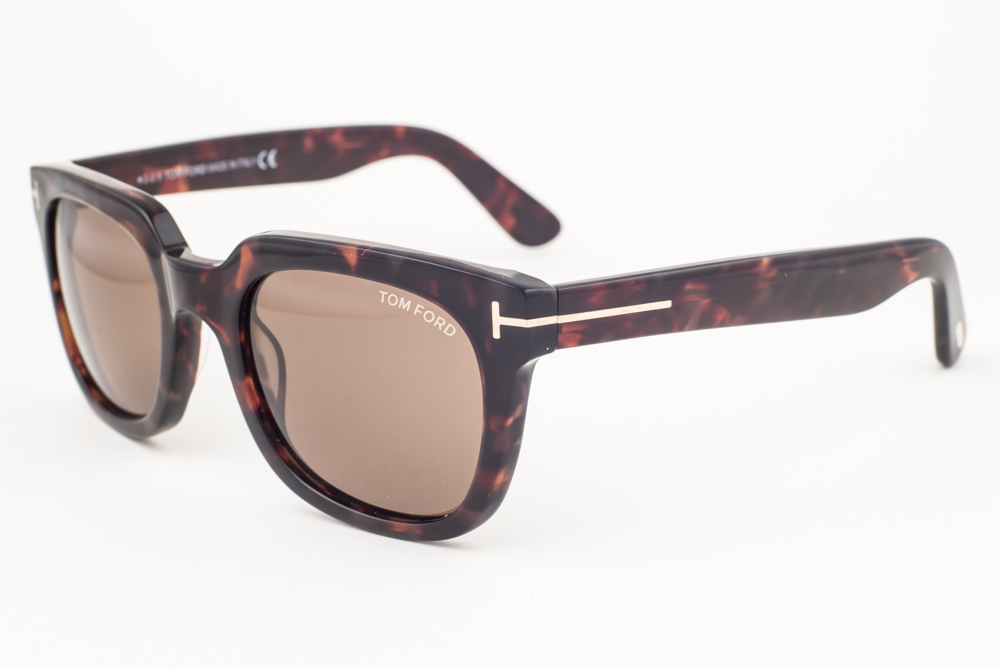 Tom Ford Campbell Dark Havana / Brown Sunglasses TF198 56J | eBay