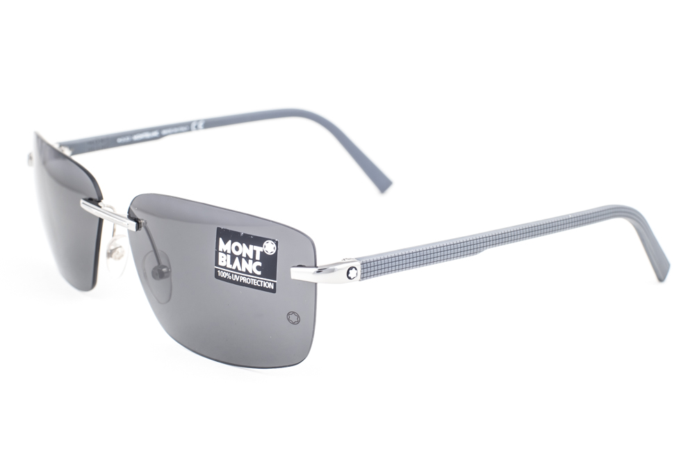 af6387c074 Mont Blanc Silver   Gray Sunglasses MB465S 14A