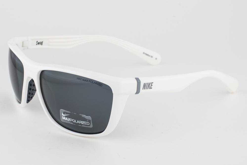 9e9ade673d6 NEW Nike SWAG White   Gray Max Polarized Sunglasses EV0654 101