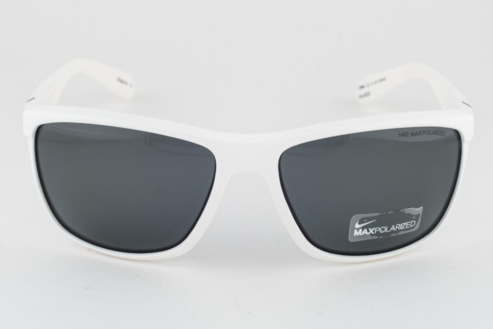e51eb8bc78 NEW Nike SWAG White   Gray Max Polarized Sunglasses EV0654 101