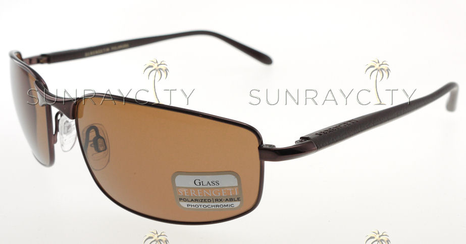 Serengeti Luigi Espresso Brown Tannery Polarized Drivers Sunglasses 7381