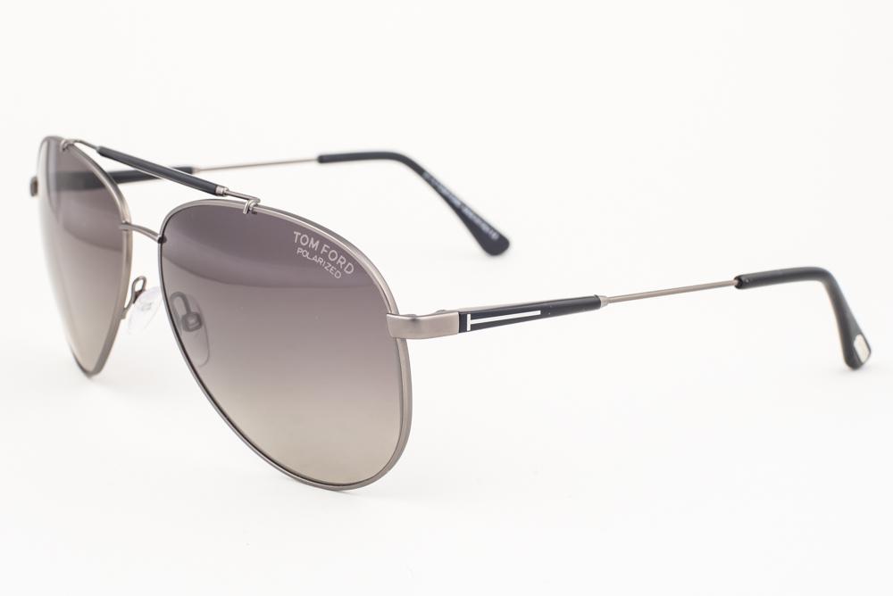 5161552574b3 Tom Ford Rick Gunmetal   Gray Polarized Sunglasses TF378 10D ...