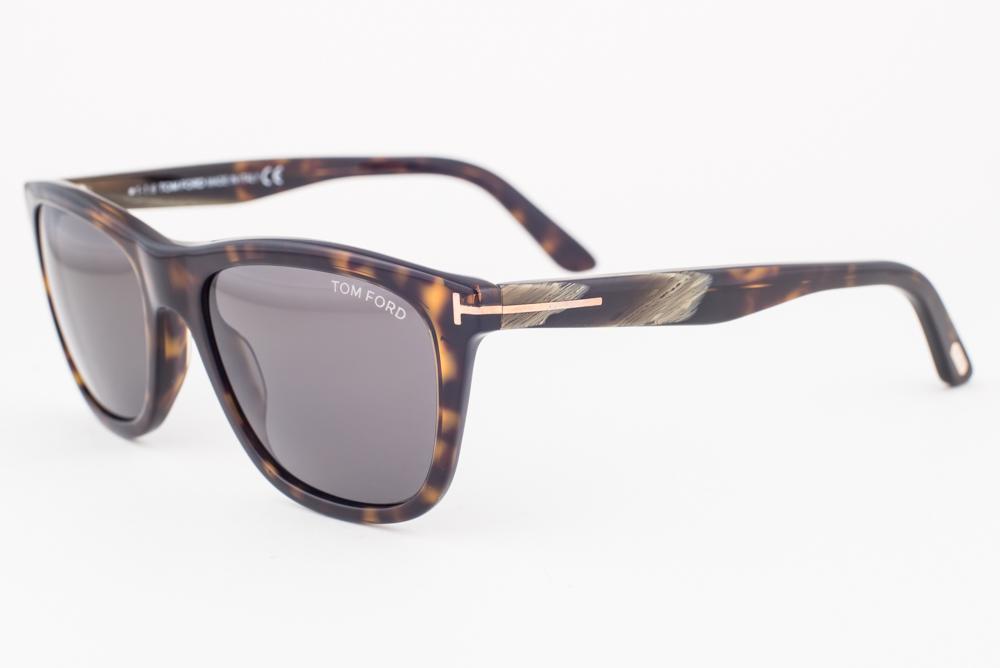 c9c34314d7b Tom Ford Andrew Dark Havana   Green Sunglasses TF500 52N ...