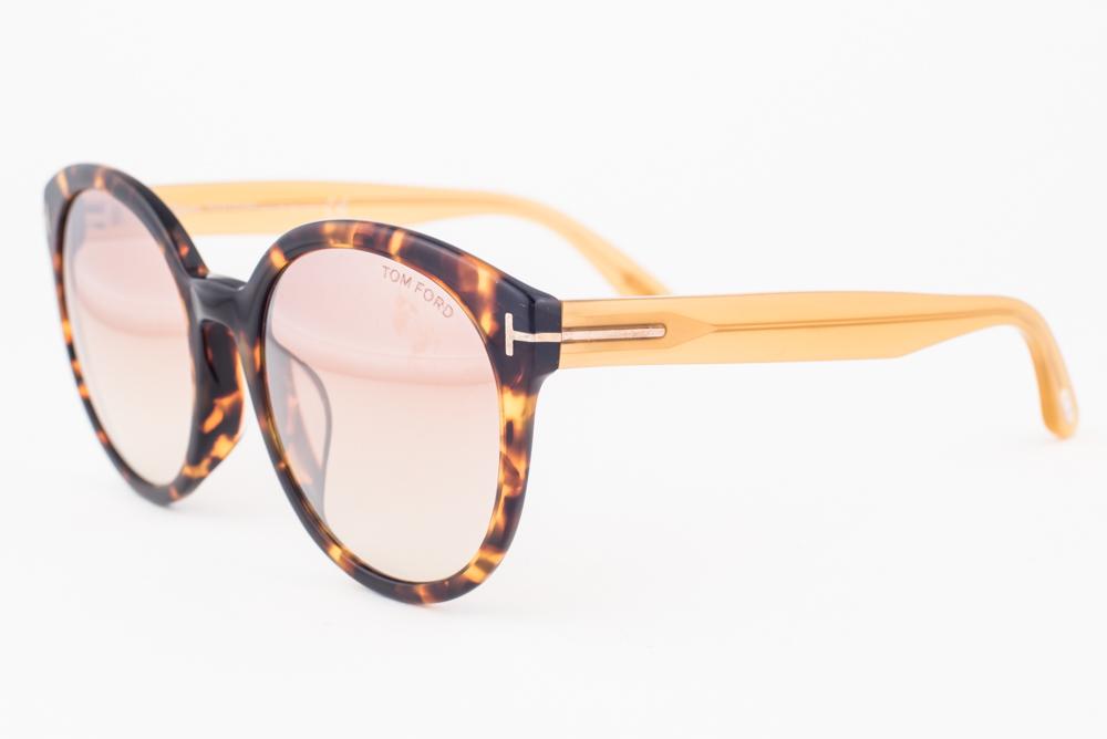 1a39d2a293d Tom Ford Philippa Blonde Havana   Brow Gradient Sunglasses TF503-F ...