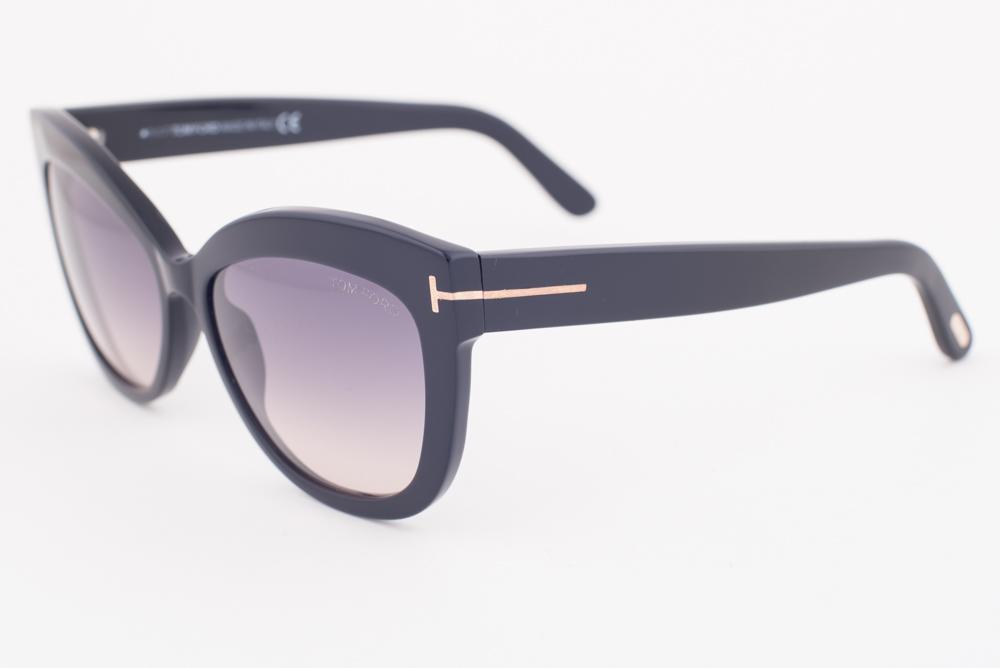 5cf99ef67e Tom Ford Alistair Shiny Black   Gray Gradient Sunglasses TF524 01B ...