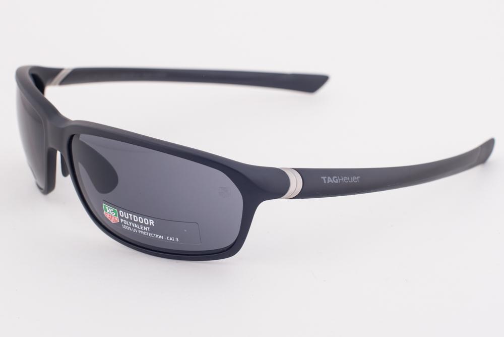 b4ddba27d1f3 NEW Tag Heuer 27 Degree 6022 Matte Black   Gray Polyvalent Sunglasses  TH6022 101
